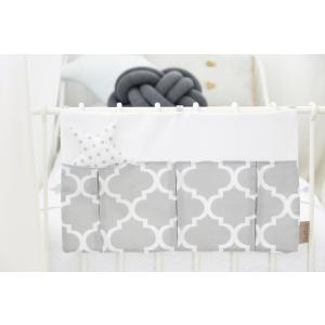 KraftKids Betttasche marokkanisches Klee grau