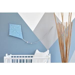 KraftKids Dekoration Luftdrache abgerundete Dreiecke weiß auf Blau