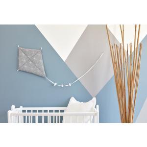 KraftKids Dekoration Luftdrache weiße dünne Diamante auf Grau