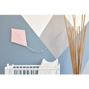 KraftKids Dekoration Luftdrache abgerundete Dreiecke weiß auf Rosa