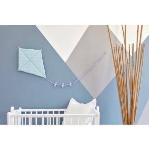 KraftKids Dekoration Luftdrache weiße Halbkreise auf Pastelmint