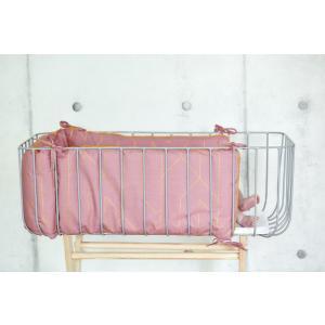 KraftKids Nestchen goldene Linien auf Rosa Nestchenlänge 60-70-60 cm für Bettgröße 140 x 70 cm