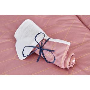 KraftKids Wickelunterlage goldene Linien auf Rosa 3 Lagen wasserundurchlässig weich Frotte 100% Baumwolle