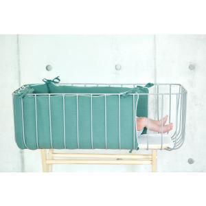 KraftKids Nestchen Musselin nilblau Nestchenlänge 60-60-60 cm für Bettgröße 120 x 60 cm