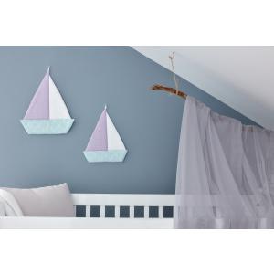 KraftKids Segelboot weiße Halbkreise auf Pastelmint