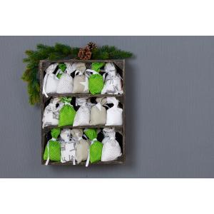 KraftKids Dekoration Adventskalender neutral 24 Stoff Säckchen zum Befüllen Baumwolle verschiedene Farbrichtungen für Groß und Klein