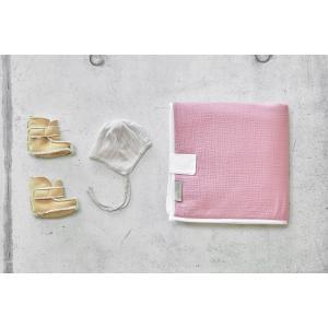 KraftKids Reisewickelunterlage Musselin rosa 3 Lagen wasserundurchlässig weich Frotte 100% Baumwolle