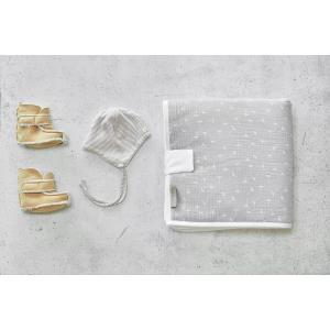 KraftKids Reisewickelunterlage Musselin grau Pusteblumen 3 Lagen wasserundurchlässig weich Frotte 100% Baumwolle