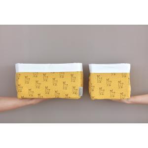 KraftKids Körbchen Musselin gelb Lamma 20 x 33 x 20 cm