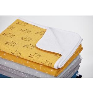 KraftKids Wickelunterlage Musselin gelb Lamma 3 Lagen wasserundurchlässig weich Frotte 100% Baumwolle
