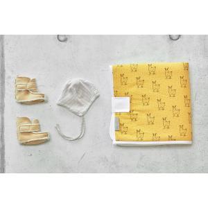 KraftKids Reisewickelunterlage Musselin gelb Lamma 3 Lagen wasserundurchlässig weich Frotte 100% Baumwolle