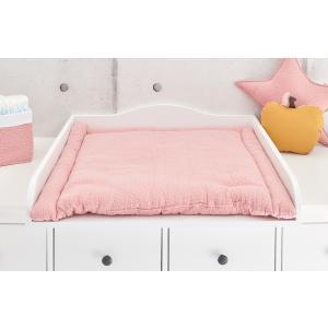 KraftKids Wickelauflage Musselin rosa Punkte breit 60 x tief 70 cm passend für Waschmaschinen-Aufsatz von KraftKids