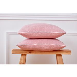 KraftKids Kissenbezug Musselin rosa Punkte