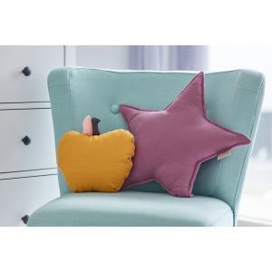 KraftKids Dekoration Sternkissen Musselin purpur