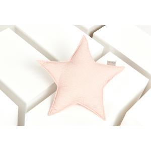 KraftKids Dekoration Sternkissen goldene unregelmäßige Punkte auf Rosa