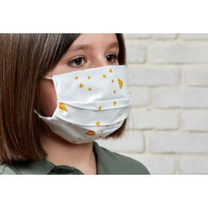 KraftKids Gesichtsmaske abgerundete Dreiecke gelb