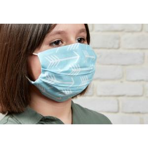 KraftKids Gesichtsmaske weiße Pfeile auf Blau