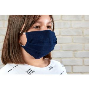 KraftKids Gesichtsmaske Musselin dunkelblau