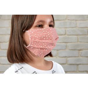 KraftKids Gesichtsmaske Musselin rosa Punkte