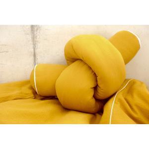 KraftKids Bettrolle Doppelkrepp Gelb Mustard Stärke: 10 cm, Rollenlänge 140 cm