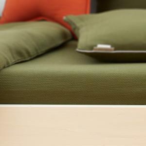 KraftKids Spannbettlaken Doppelkrepp Grün Herbstgrün passend für Matratze 120 x 60 cm