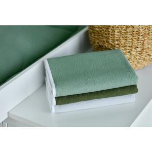 KraftKids Wickelunterlage Doppelkrepp Grün Jade 3 Lagen wasserundurchlässig weich Frotte 100% Baumwolle