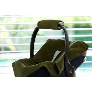 KraftKids Babydecke für Babyschale Sommer Doppelkrepp Grün Herbstgrün