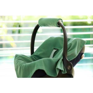 KraftKids Babydecke für Babyschale Sommer Doppelkrepp Grün Jade