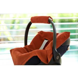 KraftKids Babydecke für Babyschale Sommer Doppelkrepp Rot Herbstrot