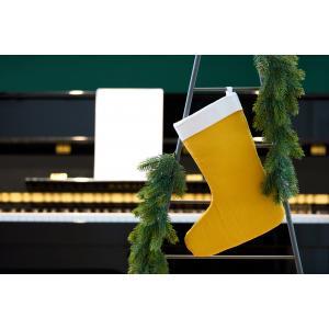 KraftKids Weihnachtssocke Doppelkrepp Gelb Mustard Weihnachtsstrumpf