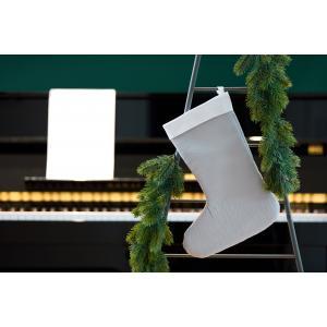 KraftKids Weihnachtssocke Doppelkrepp Grau Weihnachtsstrumpf