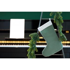KraftKids Weihnachtssocke Doppelkrepp Grün Jade Weihnachtsstrumpf