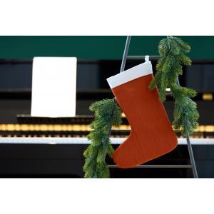 KraftKids Weihnachtssocke Doppelkrepp Rot Herbstrot Weihnachtsstrumpf