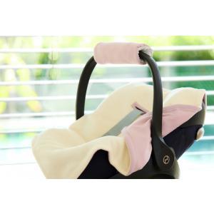 KraftKids Decke für Babyschale Winter Doppelkrepp Rosa
