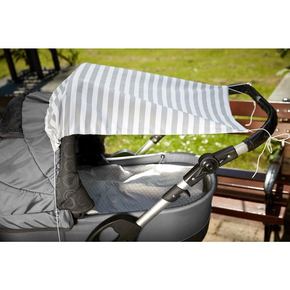 KraftKids Sonnensegel dicke Streifen grau
