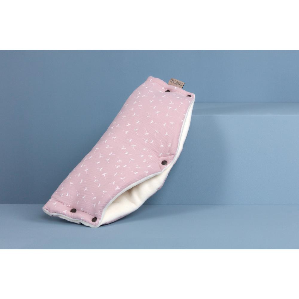 KraftKids Kinderwagenmuff Musselin rosa Pusteblumen