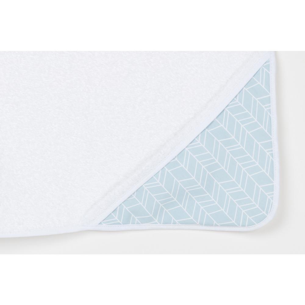 KraftKids Kapuzenhandtuch weiße Feder Muster auf Blau