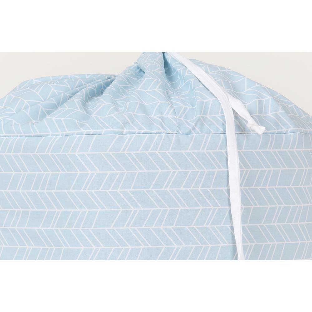 KraftKids Spielzeugkorb weiße Feder Muster auf Blau