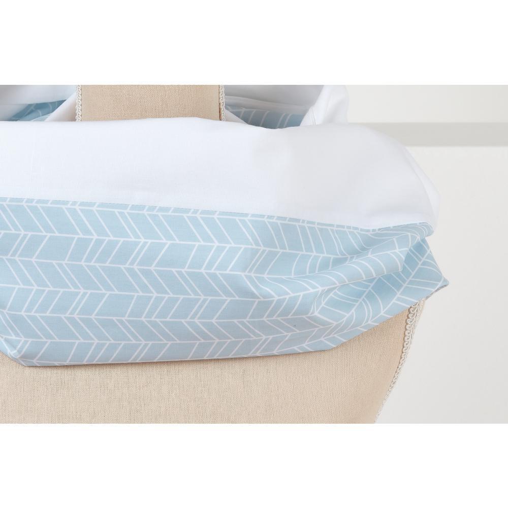 KraftKids Stilltuch weiße Feder Muster auf Blau