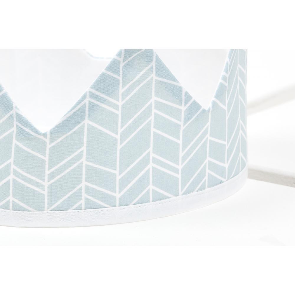 KraftKids Stoffkrone weiße Feder Muster auf Blau