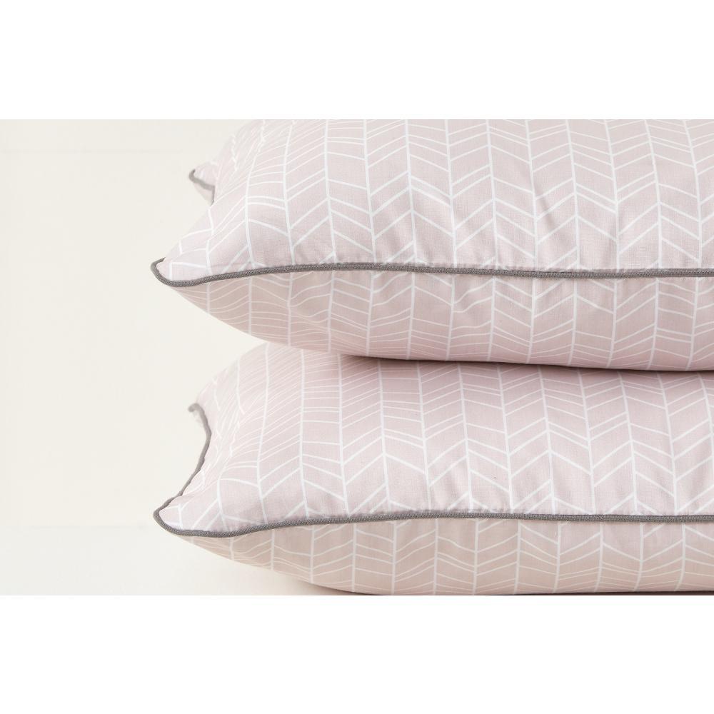 KraftKids Kissenbezug weiße Feder Muster auf Rosa