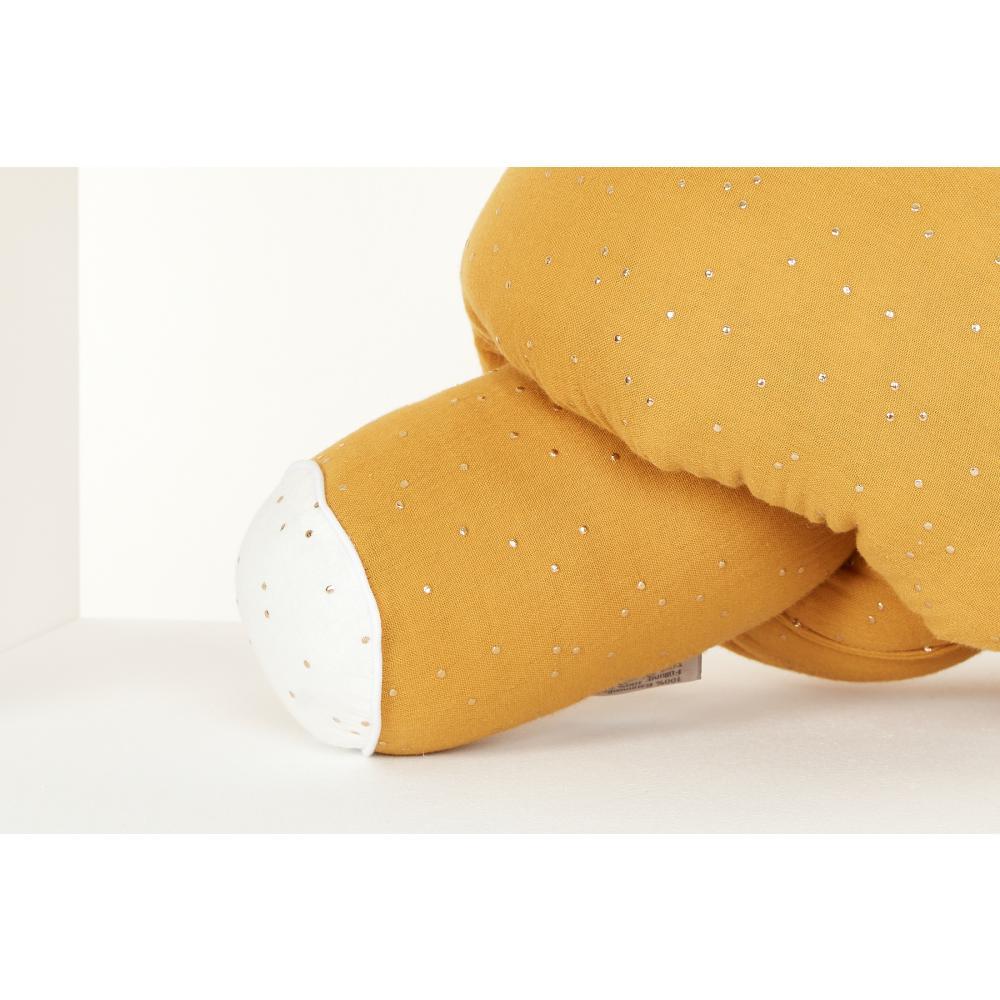 KraftKids Bettrolle Musselin goldene Punkte auf Gelb Stärke: 10 cm, Rollenlänge 200 cm