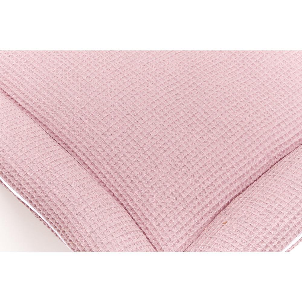 KraftKids Wickelauflage Waffel Piqué rosa breit 78 x tief 78 cm z. B. für MALM oder HEMNES Kommodenaufsatz von KraftKids