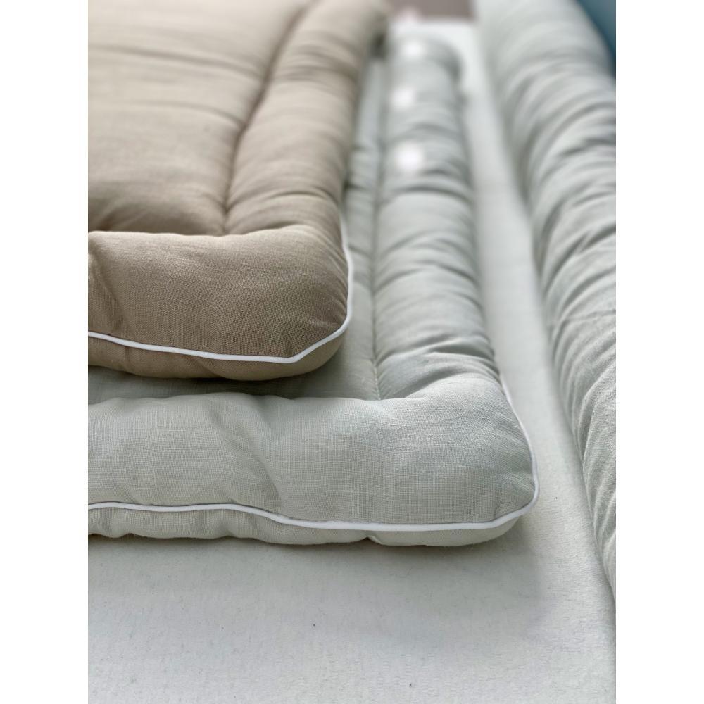 KraftKids Wickelauflage Leinen Natur Braun breit 60 x tief 70 cm passend für Waschmaschinen-Aufsatz von KraftKids