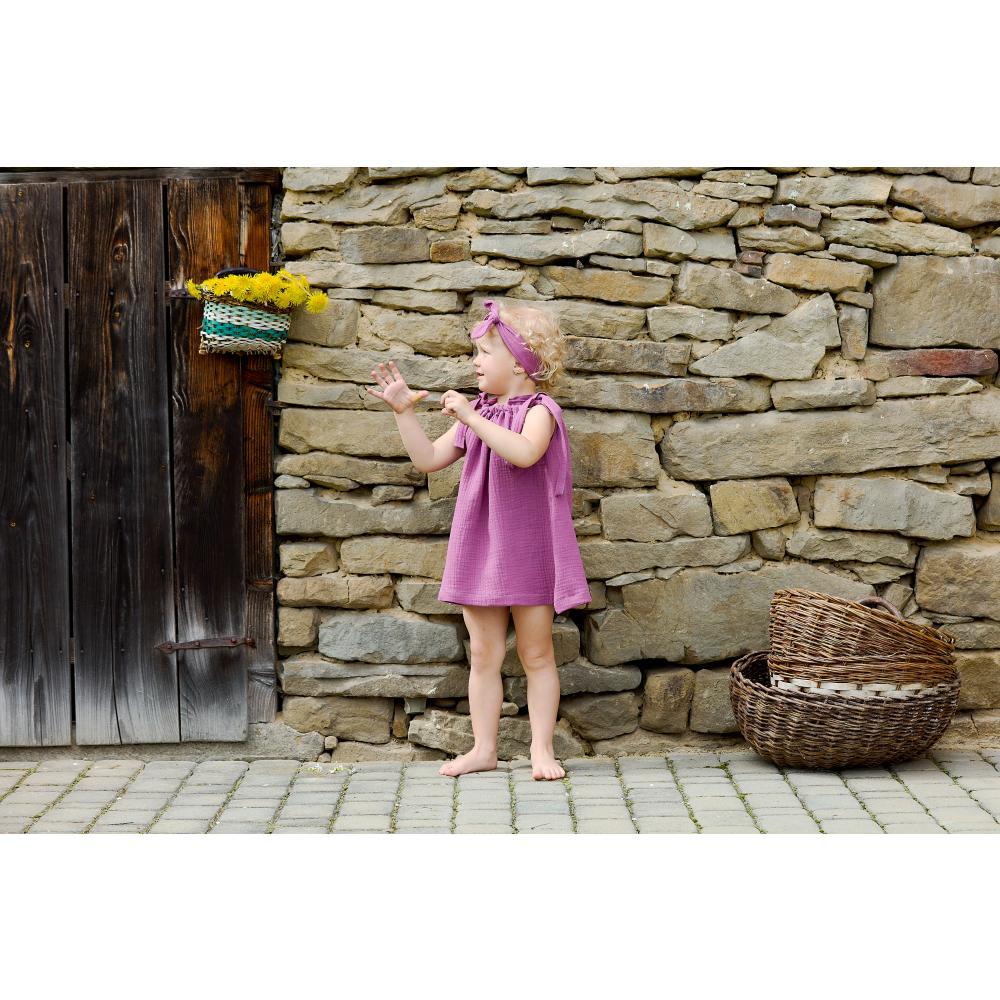 KraftKids Mädchen Kleid Musselin purpur