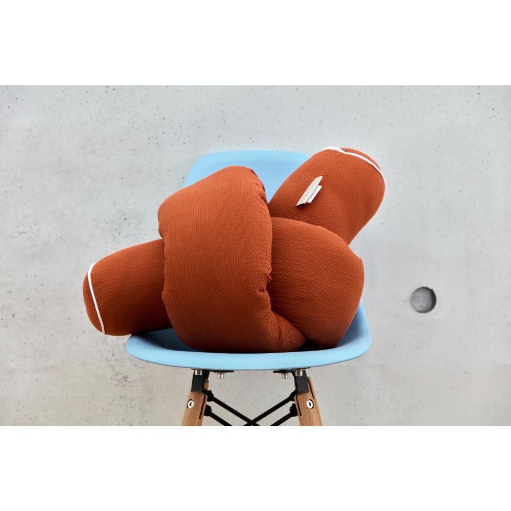 KraftKids Bettrolle Doppelkrepp Rot Herbstrot Stärke: 10 cm, Rollenlänge 140 cm