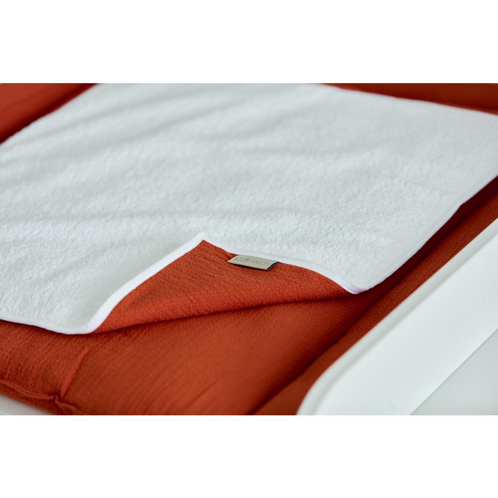 KraftKids Wickelunterlage Doppelkrepp Rot Herbstrot 3 Lagen wasserundurchlässig weich Frotte 100% Baumwolle