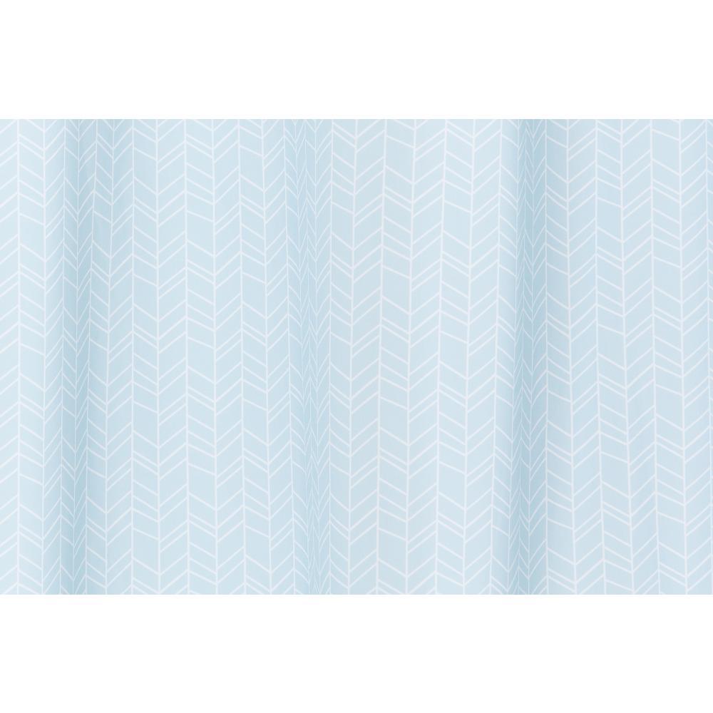 KraftKids Gardinen weiße Feder Muster auf Blau Länge: 230 cm