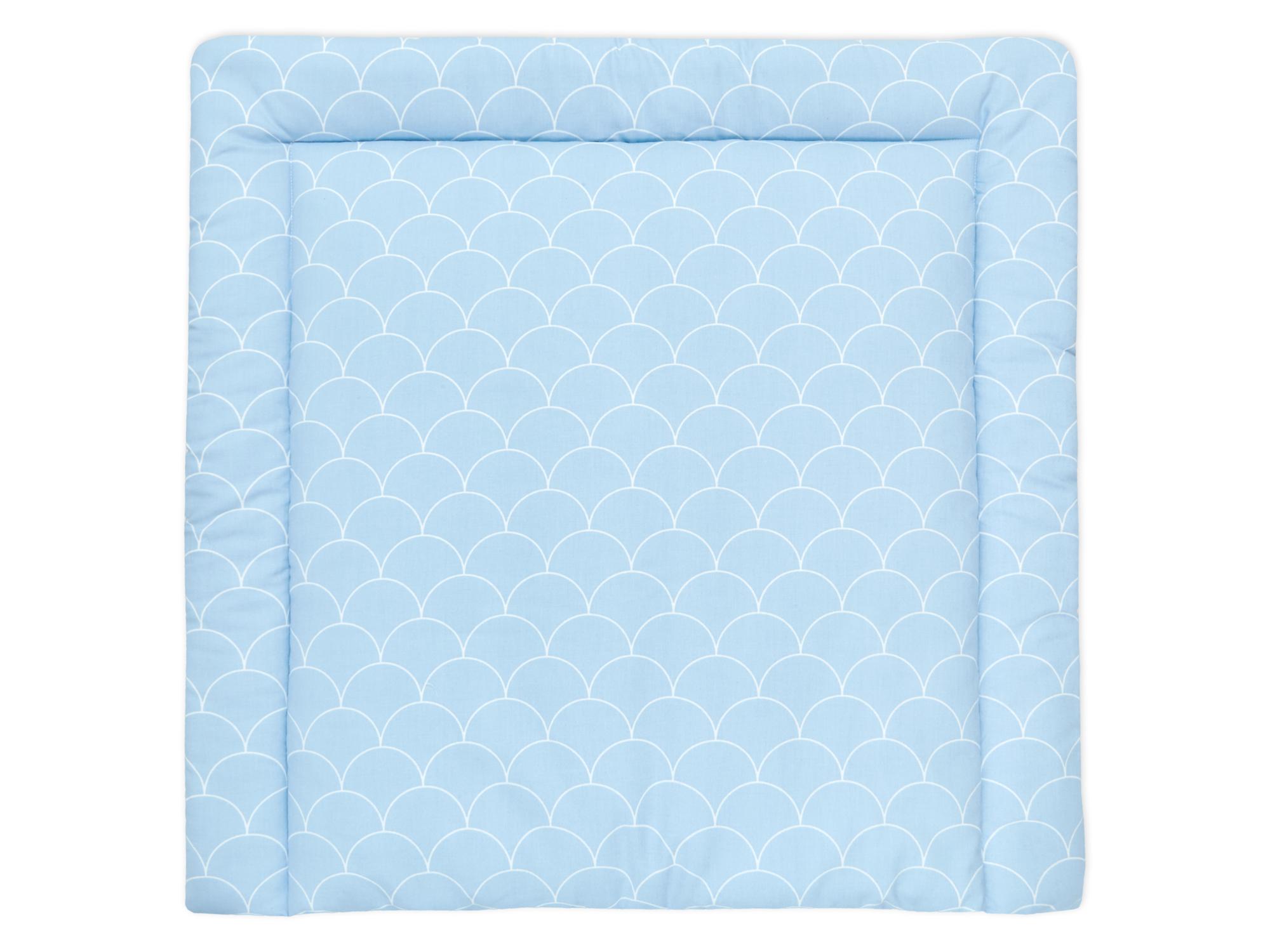 kraftkids wickelauflage wei e halbkreise auf pastelblau breit 60 x tief 70 cm passend f r. Black Bedroom Furniture Sets. Home Design Ideas