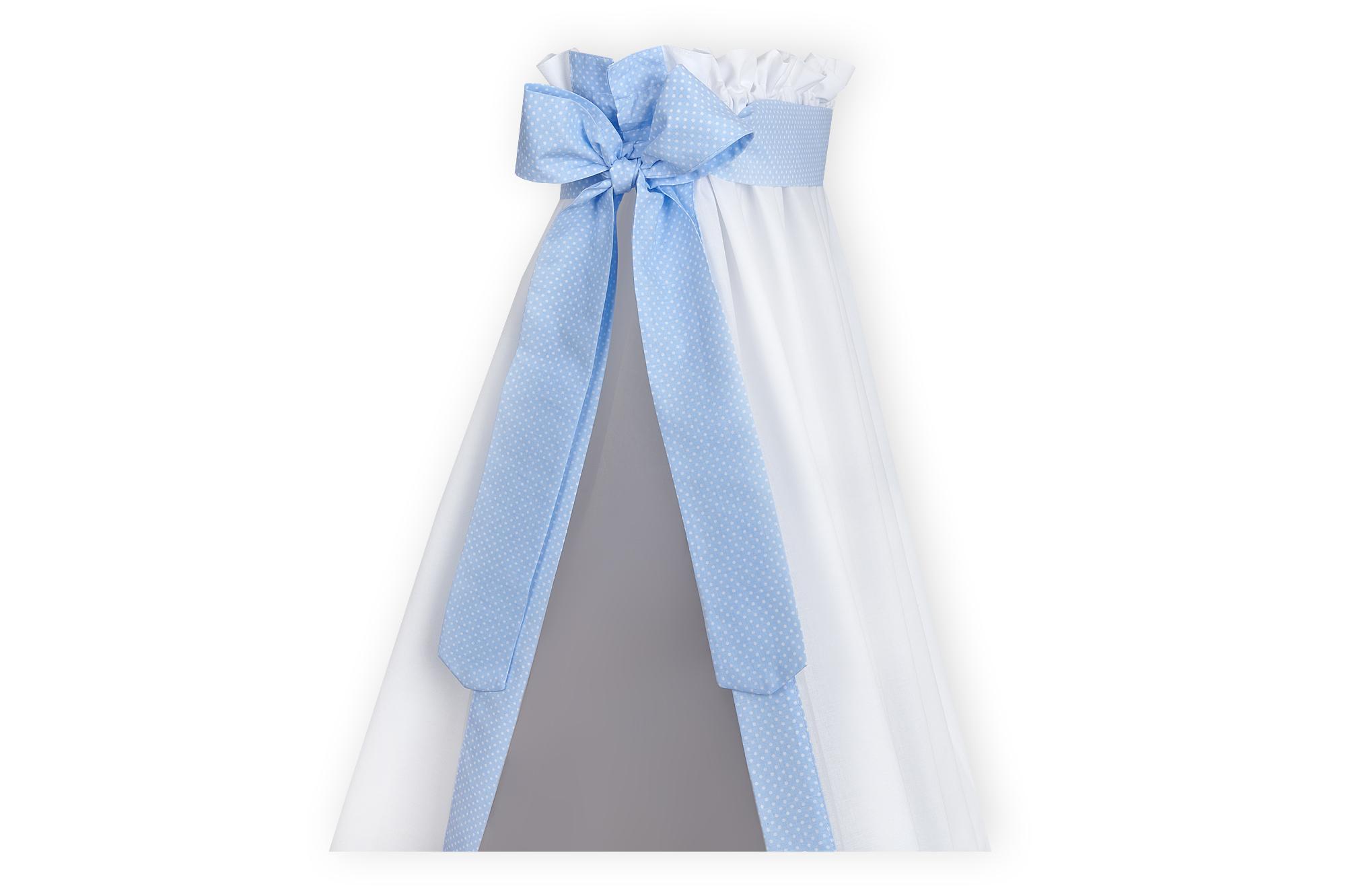 KraftKids Betthimmel weiße Punkte auf Hellblau